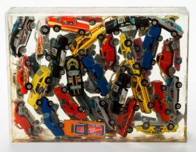 Arman (1928-2005) Untitled Toy Cars In Polyester