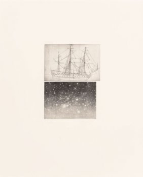 Vija Celmins (b. 1939) Alliance, 1983 Aquatint W