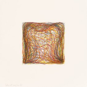 Sol Lewitt (1928-2007) Eight Small Etchings/colo