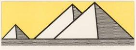 Roy Lichtenstein (1923-1997) Pyramids, 1969 Lith
