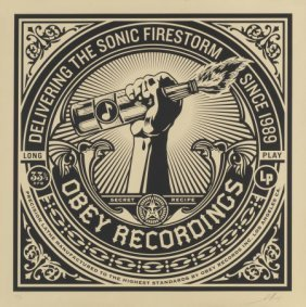 Shepard Fairey (b. 1970) Sonic Firestorm, From T
