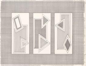 Frank Stella (b. 1936) Grid Stack, 1970 Lithogra