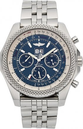 Breitling For Bentley Stainless Steel Chronograp