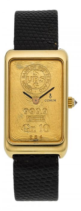 Corum Gr. 10 Yellow Gold Ingot Watch, Ref. 14400