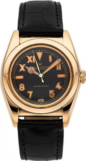 Rolex Very Fine Rose Gold Bubble Back Ref. 3131,