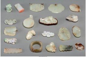 A Group Of Twenty Chinese Jade, Jadeite & Hardst