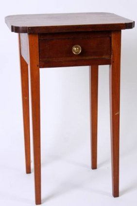 Late Federal Cherry Work Table, 2nd Q. 19th C.