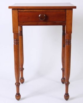 Late Federal Cherry Work Table, American, 19th C.