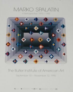 Marko Spalatin (b. 1945), Signed Exhibition Poster