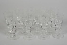 Set Of Twelve Steuben Cordial Glasses, #7877
