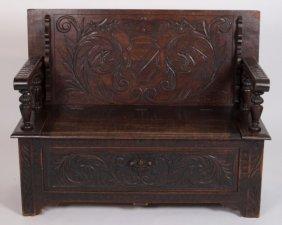 English Oak Monk's Bench Table