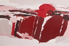 """Peggy Sayed (20th C) """"geomorphic Series #8"""""""