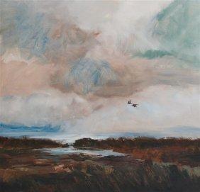 "Donald Gheen (20th C) ""marshland"""