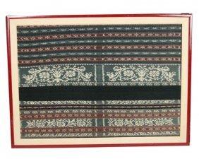 Pair Of Framed Savu Textiles
