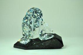 Signed Swarovski Crystal & Granite 'soulmate' Walrus
