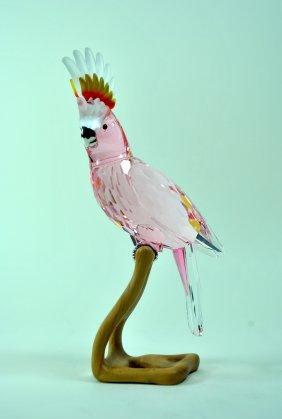 Signed Swarovski Crystal & Wood Cockatoo