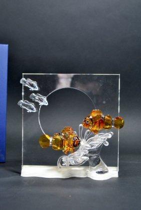 Signed Swarovski Crystal Plaque 'harmony'