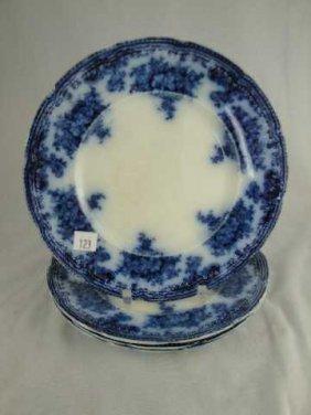 FLOW BLUE PLATE - SET 4 MILLROSE