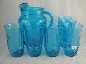 BLUE GLASS LEMONADE SET