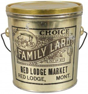 Red Lodge Market Choice Family Lard Tin Pail