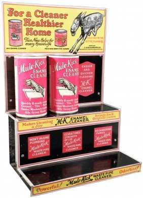 Mule Kick Tin Store Display W/product