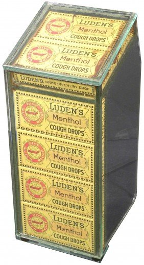 Luden's Menthol Cough Drops Store Display Case