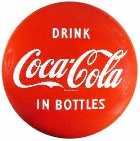 Coca Cola Button Sign