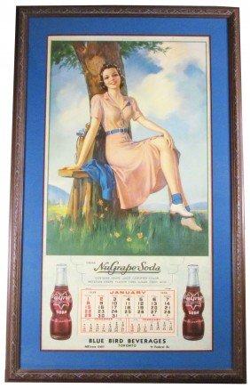 1939 Calendar For Nu Grape Soda
