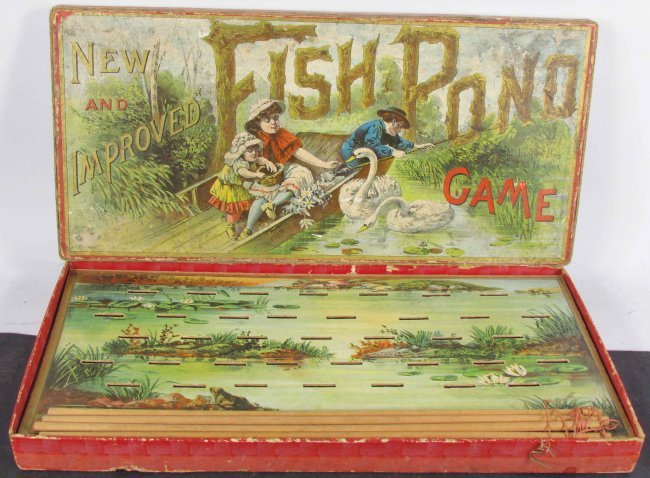 Mcloughlin bros ny fish pond board game lot 1449 for Koi pond game online