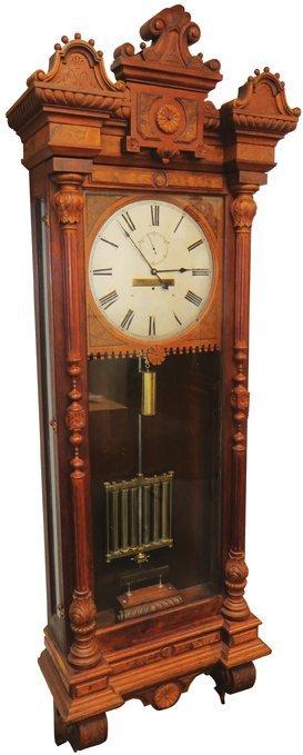 1880 Railroad Regulator Wall Clock Lot 1209