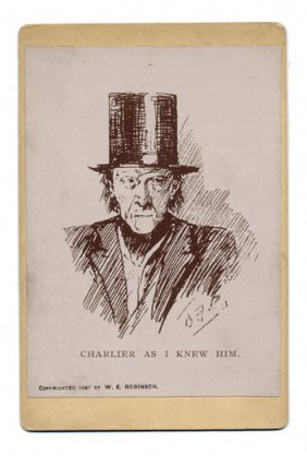 Photographic Reproduction Of Sketch Of Charlier In