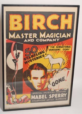 "Birch Poster ""The Sensational Vanishing Pony"""