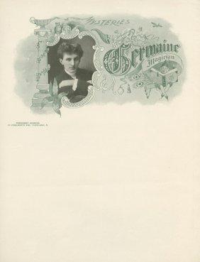Karl Germain Letterheads And Bookplate