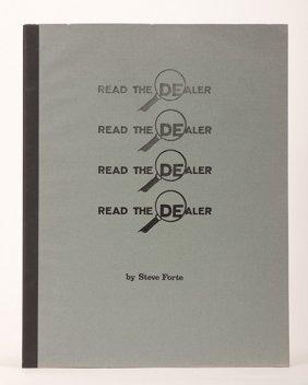 Forte, Steve. Read The Dealer. Berkeley, 1986.