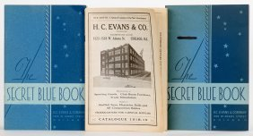 Three H.c. Evans & Co. Supply Catalogs. Chicago, 1919 –