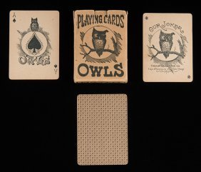 The National Card Co. Owls No. 00. Indianapolis & New
