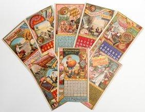 Eight Russell & Morgan Factories 1884 Calendar Pages.
