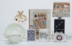 Lot Of Nine Playing Card And Gambling Related Items.