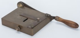 Card Trimmer. American, Maker Unknown, Ca. 1890. Early