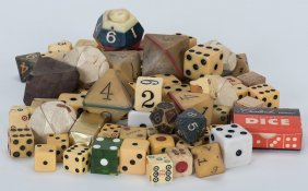 Miscellaneous Lot Of Dice. Various Dates And