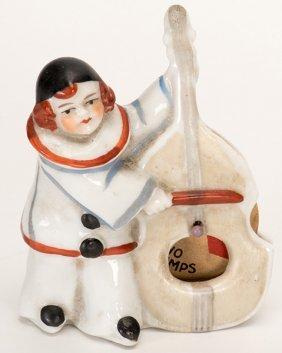 Trump Indicator Clown Playing Bass Violin. Circa 1930.