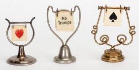 Three Trump Indicators With Hanging Celluloid Flip