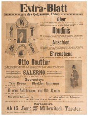 Houdini, Harry (ehrich Weisz). Extra-blatt. Houdinis.