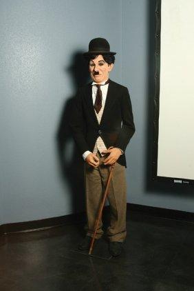 Charlie Chaplin Wax Figure As The Tramp