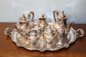 Six Piece Silverplate Tea Set