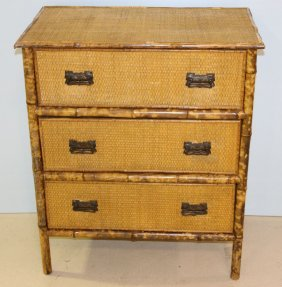 Bamboo And Rattan Chest