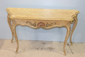 Carved French Console Table