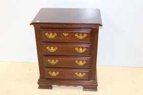 Mahogany Nightstand With Four Drawers