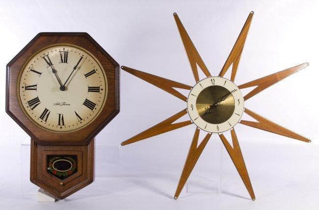 roxhall mid century modern wall clock lot 207