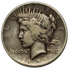 1921 $1 Peace F
